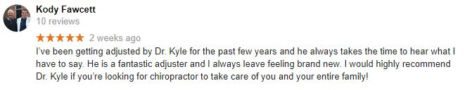Health Connection Family Chiropractic Patient Testimonial